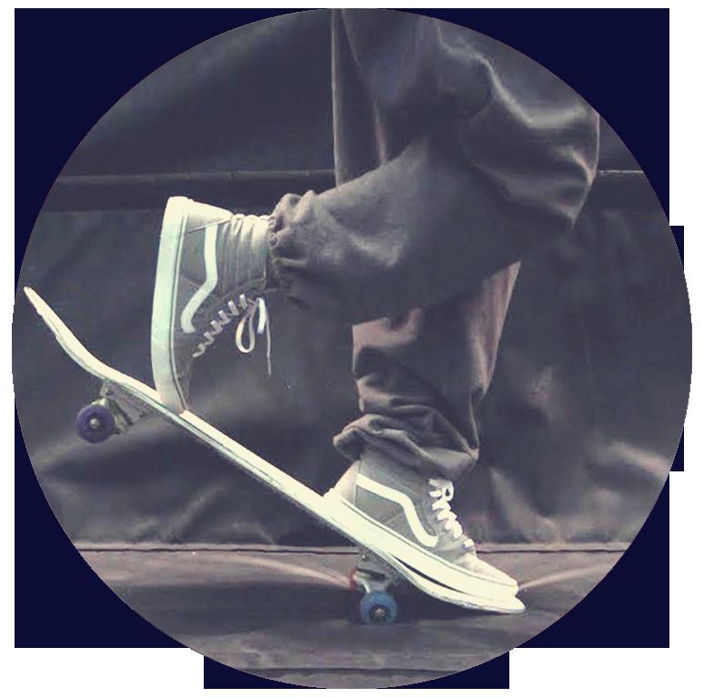 skateboard Vincent Jutras Artiste Cirque